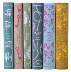 Jane Austen complete Penguin book set. Love/need this!