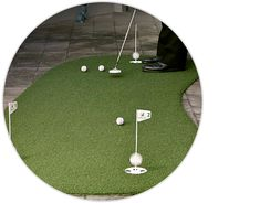 Practice better with artificial golf grass and practice products from SYNLawn Golf the leader in synthetic golf turf for putting greens fairways and more.