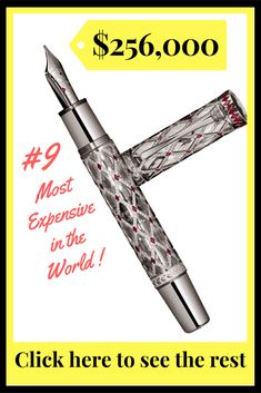 The World's Most Expensive Fountain Pens: A Top Ten List Most Expensive Pen, Pen Down, Luxury Pens, Mourning Jewelry, Fountain Pens, Top Ten, Destiny, Beauty, Style