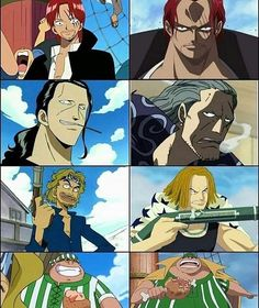 Sometimes some random images makes a great post . One Piece Anime, Otaku, Zoro, Shanks Crew, Monkey D. Luffy, Susanoo Naruto, Es Der Clown, One Piece Funny, Images Gif