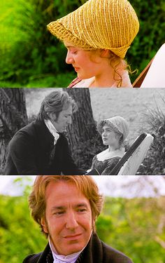 Sense and Sensibility. Colonel Brandon and Marianne played by Alan Rickman and Kate Winslet.