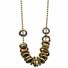 Giles & Brother - Rings & Nuts Necklace.  edgy and pretty all in one.