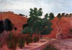 JózsefRippl-Rónai (Hungarian, 1861-1927),Nice Landscape in the Pyrenees, 1899, oil on cardboard,69.5cm (27.4 in) x 99.5cm (39.2 in).