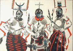 Apache Gan Dancers by Paul Pletka