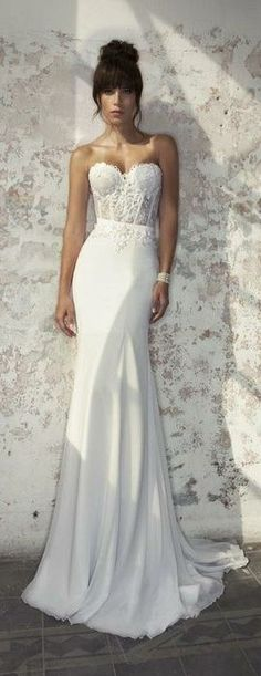 Loving the bottom!!! The flowyness!....♡ Wedding Story ♡ Julie Vino Bridal Collection Women, Men and Kids Outfit Ideas on our website at 7ootd.com #ootd #7ootd