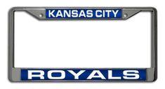 Kansas City Royals License Plate Frame Laser Cut Chrome #KansasCityRoyals