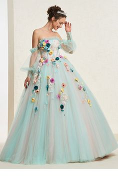Long Sleeves Off-The-Shoulder Ball Gown Flowers Quinceanera Dress – dressiu Quinceanera Dresses, Homecoming Dresses, Wedding Dresses, Quinceanera Ideas, Disney Princess Dresses, Ball Gown Dresses, Floor Length Dresses, Mermaid Dresses, Special Occasion Dresses