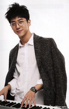 B.A.P Yongguk. He looks like a k Harry Potter