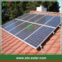 Pitched Tile Roof Solar Mounting Structure For Home Solar Panel Mounting System Homesolarproducts Solar Panels Best Solar Panels Solar Panels For Home