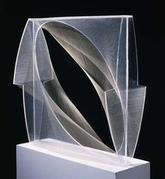 "Naum Gabo ""Linear Construction in Space (Variation) 1943 Lucite with nylon thread. Gabo was a sculptor and founder of the constructivist movement. Ethereal, delicate use of thread to create visually dense objects out of line. Sculpture Projects, Art Sculpture, Abstract Sculpture, Wire Sculptures, Sculpture Ideas, Bronze Sculpture, Contemporary Abstract Art, Modern Art, Bauhaus"