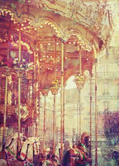 Carousel ~Unreal! Anyone know where this painting comes from? This double decked carousel is IDENTICAL to the one that use to be in my hometown in TEXAS!  AMAZING!  I'd love to know if there are more carousels like it out there in the world!