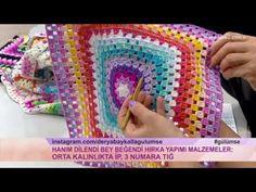 Papatya kare motif yapımı/Örgü modelleri - YouTube