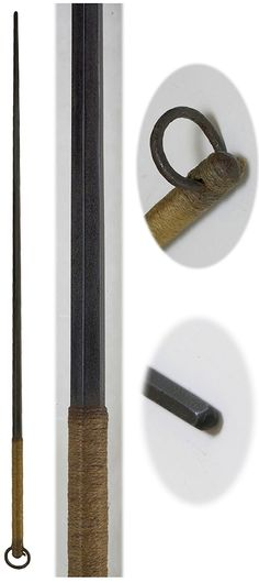 Samurai kanamuchi (iron whip), Edo period, 33in.