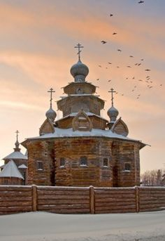 Visiting the church, Suzdal, Russia.
