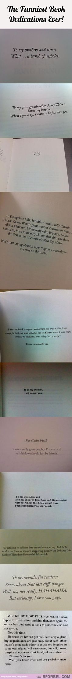 I always, ALWAYS read the Book Dedication before starting a novel. They're either sassy and witty or sincere and heart-melting. And Rick Riordan will always be the best troll <<< This.