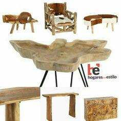 #madera y #piel ! #novedades en hogaresconestilo.com!  Visítanos! #home #hogar #estilo #deco #decoración