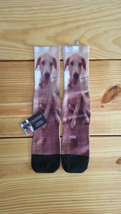Pet socks.. Customer wanted some with her best friend on them which is her dog.. She loves them...