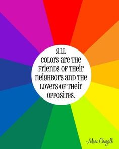 All colors are friends of their neighbors and lovers of their opposites
