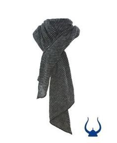 - Icelandic Wool Striped Shawl Black/Grey - Wool Accessories - Nordic Store Icelandic Wool Sweaters