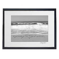 Custom Seaside Photo Personalized With Your Names In The Sand By California Artist Courtney Noelle Availble Only Through Exclusively Weddings