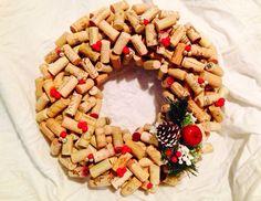 Christmas Wine Cork Wreath.