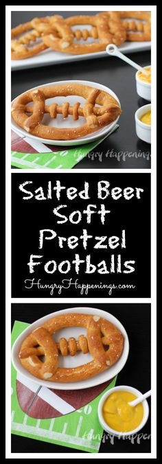 Personally, I LOVE soft pretzels and they are and always will be my soul mate. So trust me when I say these Salted Beer Soft Pretzel Footballs are a must have for any Super Bowl party.