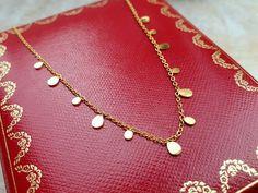 Carat Gold, 18k Gold, Venus, Or, Tassel, Envelope, Pearl Necklace, Etsy, Paris
