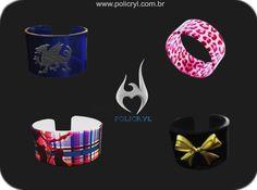 Pulseiras super estilosas em acrílico.  Super stylish bracelets in acrylic.