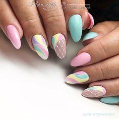 Just Nails # Nail Polish # Gel Nails # Thumbnail Design # Nail Design # Pretty Nails . Cute Spring Nails, Spring Nail Art, Summer Nails, Fall Nails, Long Nail Designs, Nail Art Designs, Nails Design, Diy Nails, Cute Nails