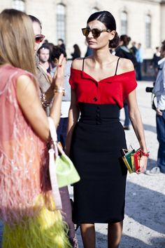 Giovanna Battaglia - Street style at Paris fashion week spring/summer '14 gallery - Vogue Australia