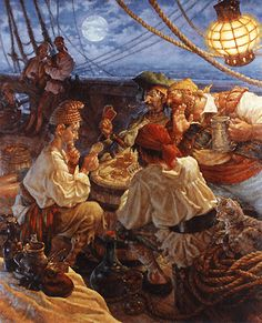 Scott Gustafson. Peter Pan illustration