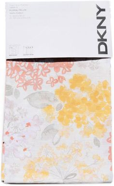 DKNY Botanical Nature Floral Branches Window Curtain Panels 2pc Yellow Orange #DKNY #Contemporary