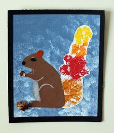 Loved this one so much I had to pin it! Good printing project for early Fall, especially at our school where squirrels are everywhere.