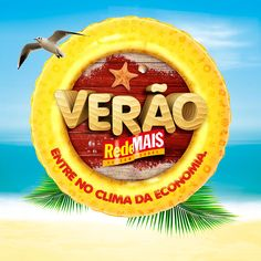 Campanha de Verão RedeMAIS on Behance Calligraphy Text, Campaign Logo, 3d Typography, Logo Design, Graphic Design, 3d Logo, Social Media Banner, Text Effects, Photoshop Design