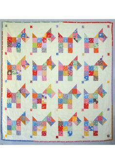 "This easy quilt is so much fun to make! Looks great when made using 1930's prints. Finished size is 49"" x 49"". #quilt #pattern #easy #affiliate"