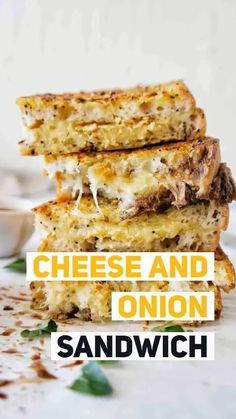 Cheese and Onion Sandwich that will blow your mind! You can call this bad boy your cheese and onion toastie, grilled cheese and onion sandwich or just yum! Grilled Sandwich, Sandwich Recipes, Lunch Recipes, Easy Dinner Recipes, Vegetarian Recipes, Easy Meals, Drink Recipes, Easy Recipes, Savoury Recipes
