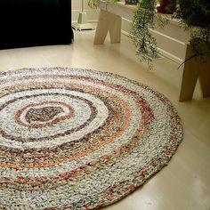amazing rag rug by Bright Fragments: