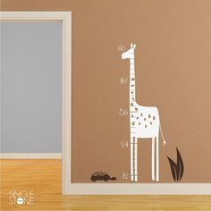 Giraffe Growth Chart - wall decal  www.singlestonestudios.com