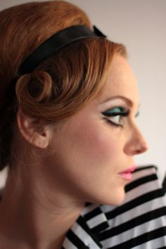60s-inspired hair + makeup