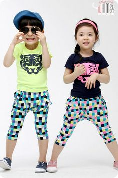 Neon Checkers Set for boys and girls 2-8. Funky play ready kids fashion at Color Me WHIMSY.