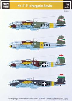 Item:Decal Set - Heinkel This set includes markings for 4 DIFFERENT Hungarian Air Force versions! Aircraft Photos, Ww2 Aircraft, Fighter Aircraft, Military Aircraft, Fighter Jets, Finnish Air Force, Fighting Plane, Defence Force, Royal Air Force