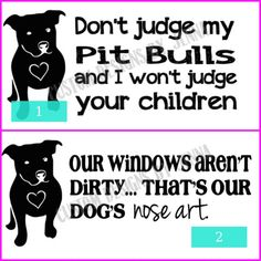 New signs for Pit Bull lovers for sale in my Etsy shop! Portion of proceeds to benefit a pit bull rescue organization.
