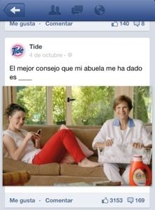 Read, write, watch... Spanish facebook ads GREAT IDEA for authentic ads!