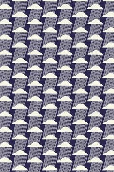 Flore Larrazet - Lac salé, rain, clouds, weather, pattern, print, design, geometric, abstract, navy, repeat
