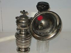 VINTAGE ANTIQUE FRENCH SIDEWARDS BICYCLE CARBIDE LAMP LANTERN LIGHT (B) in Collectibles | eBay