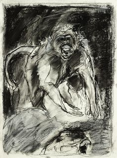 tim dayhuff - charcoal and white pastel on paper