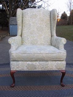Queen Anne Furniture | Queen Anne Mahogany Wing Back Parlor Chair
