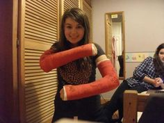 Arm Cast, Braces, Female, Surgery, Fun, Gypsum, Train Tracks, Suspenders, Dental Braces