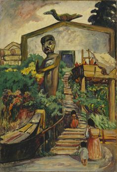 Cave to Canvas, Indian Community House - Emily Carr, 1912 Tom Thomson, Canadian Painters, Canadian Artists, Totems, Emily Carr Paintings, Matisse, Group Of Seven Paintings, Hirshhorn Museum, Art Chinois