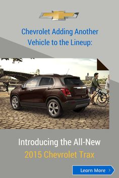 Chevrolet Adding Another Vehicle to the Lineup: Introducing the All-New 2015 @Chevrolet #Trax | Click to read more about it!